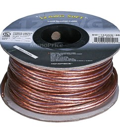 monoprice choice series 12awg oxygen free pure bare copper speaker wire 50ft small [ 1200 x 900 Pixel ]