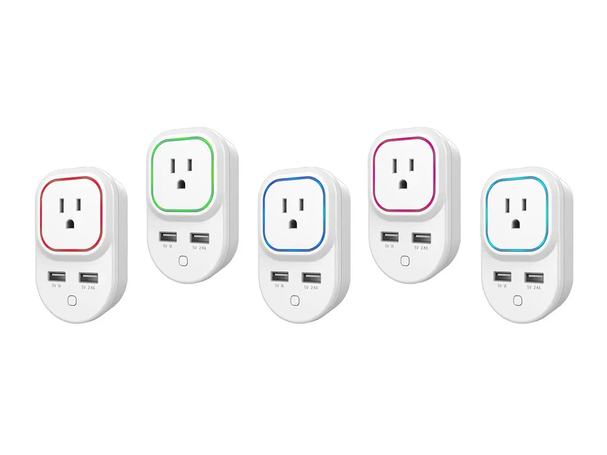 Monoprice Z-Wave Plus Smart Plug and Repeater with 2 USB