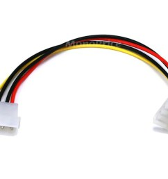 monoprice molex internal dc power extension cable 1x 5 25in male to 1x 90  [ 1200 x 900 Pixel ]