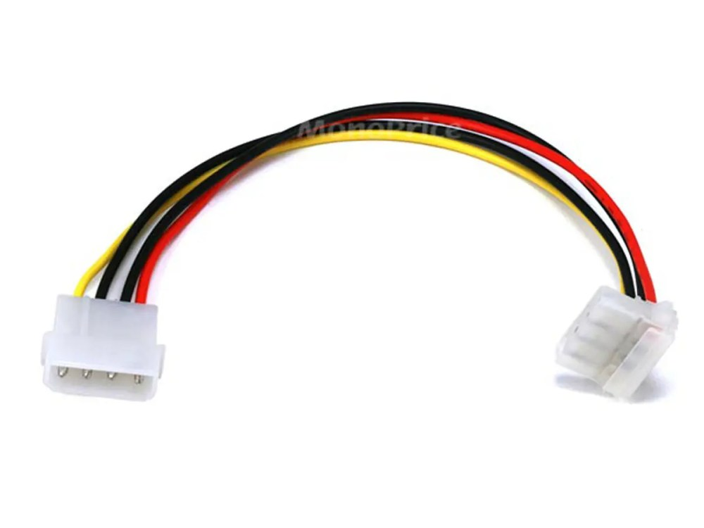 medium resolution of monoprice molex internal dc power extension cable 1x 5 25in male to 1x 90