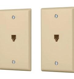 monoprice surface phone jack plate ivory 2 pack large image  [ 1200 x 900 Pixel ]
