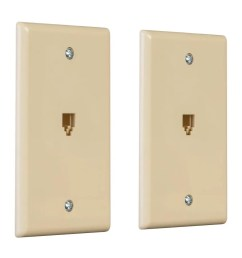 monoprice surface phone jack plate ivory 2 pack small image  [ 1200 x 900 Pixel ]