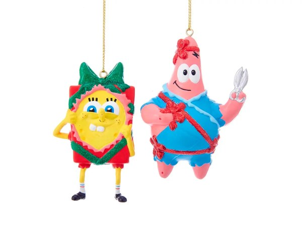 Spongebob Squarepants Christmas Ornaments Set Of 2