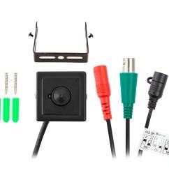 monoprice 2 1mp hd tvi mini pinhole covert security camera 4 in  [ 1200 x 900 Pixel ]