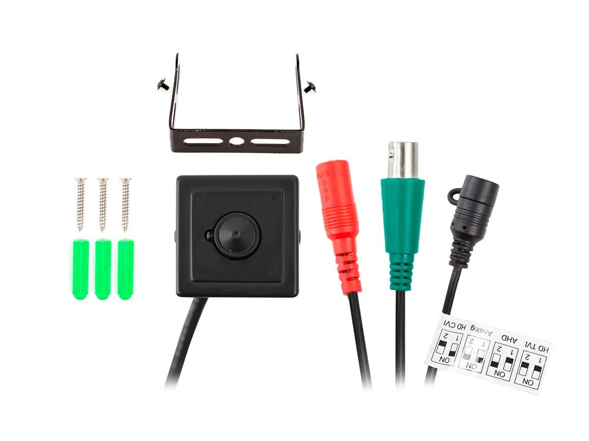 hight resolution of monoprice 2 1mp hd tvi mini pinhole covert security camera 4 in