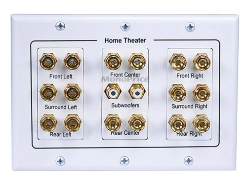 small resolution of monoprice 3 gang 8 2 surround sound distribution wall plate small image 4