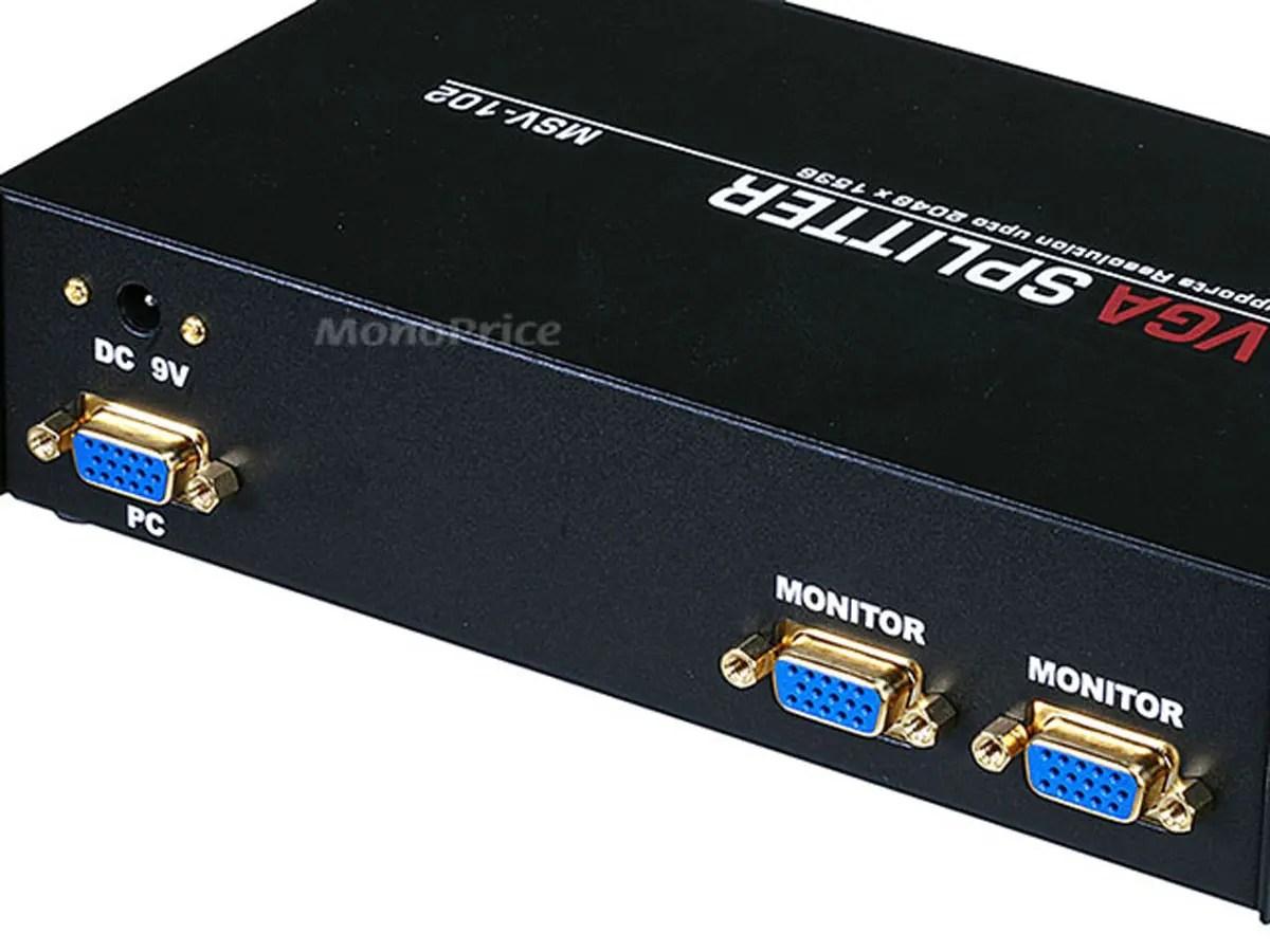 2 way splitter sunpro drag n tach wiring diagram svga vga amplifier multiplier 400 mhz
