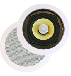 monoprice caliber in ceiling speakers 8in fiber 2 way pair  [ 1200 x 900 Pixel ]