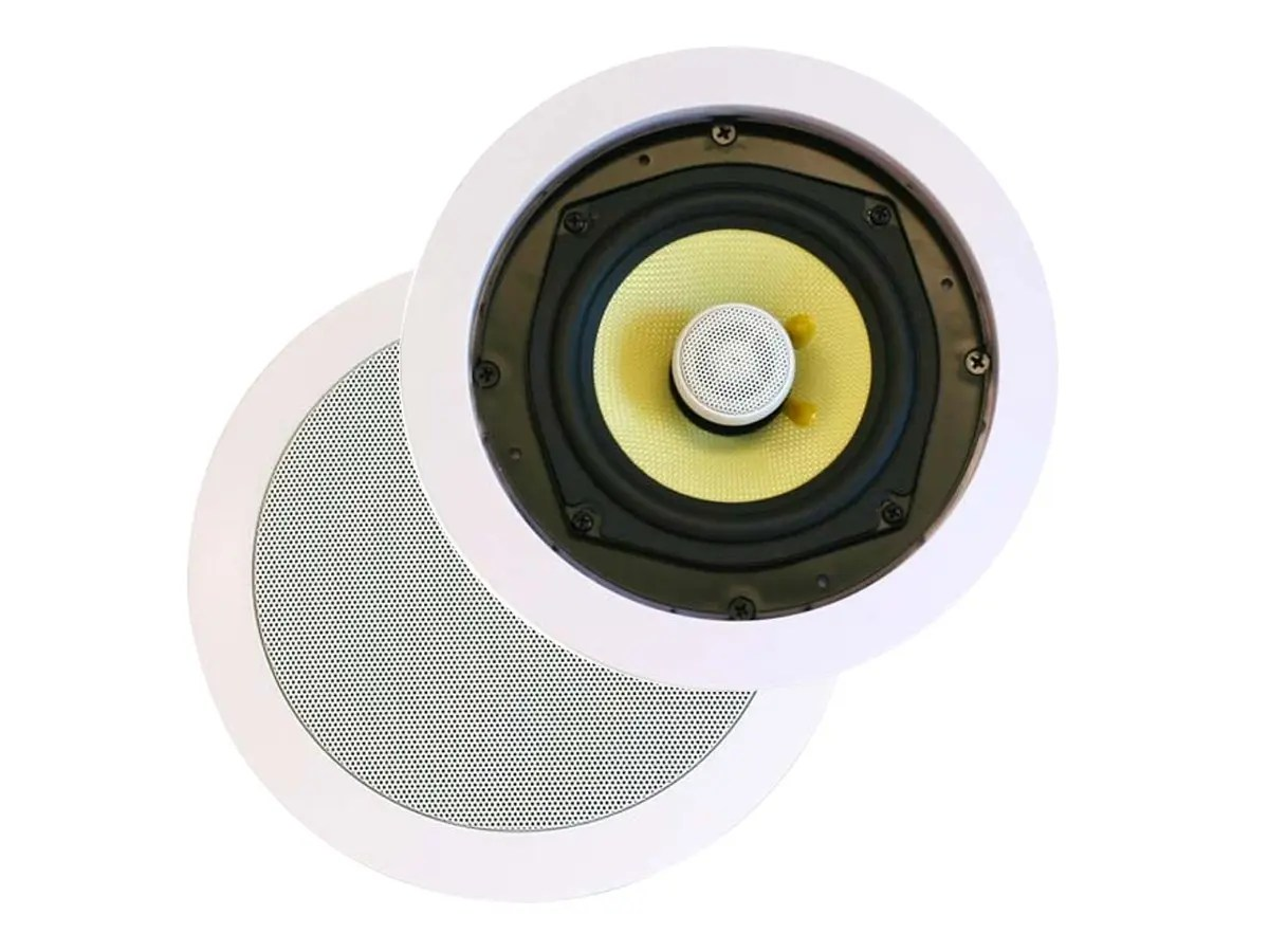 hight resolution of monoprice caliber in ceiling speakers 8in fiber 2 way pair