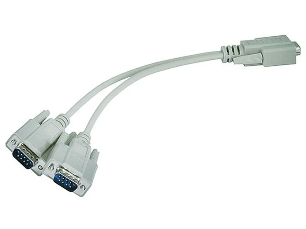 medium resolution of monoprice rs232 serial mouse or monitor splitter cable 1 db9 female to