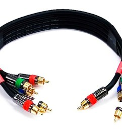 monoprice 1 5ft 18awg cl2 premium 5 rca component video audio coaxial cable  [ 1200 x 900 Pixel ]