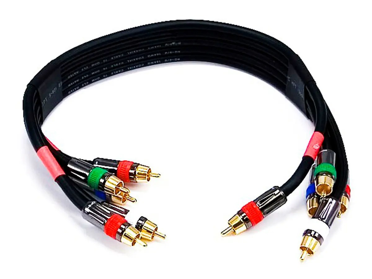 hight resolution of monoprice 1 5ft 18awg cl2 premium 5 rca component video audio coaxial cable