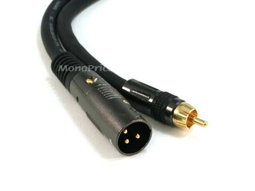 small resolution of monoprice 15ft premier series xlr male to rca male cable 16awg gold plated