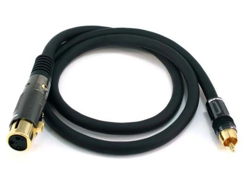 small resolution of monoprice 3ft premier series xlr female to rca male cable 16awg gold plated