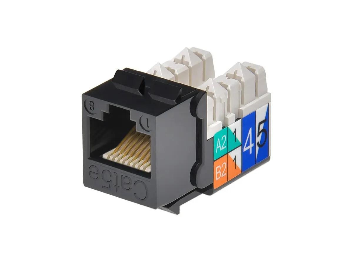 rj45 punch down diagram myers duplex pump control panel wiring cat5e keystone jack black monoprice