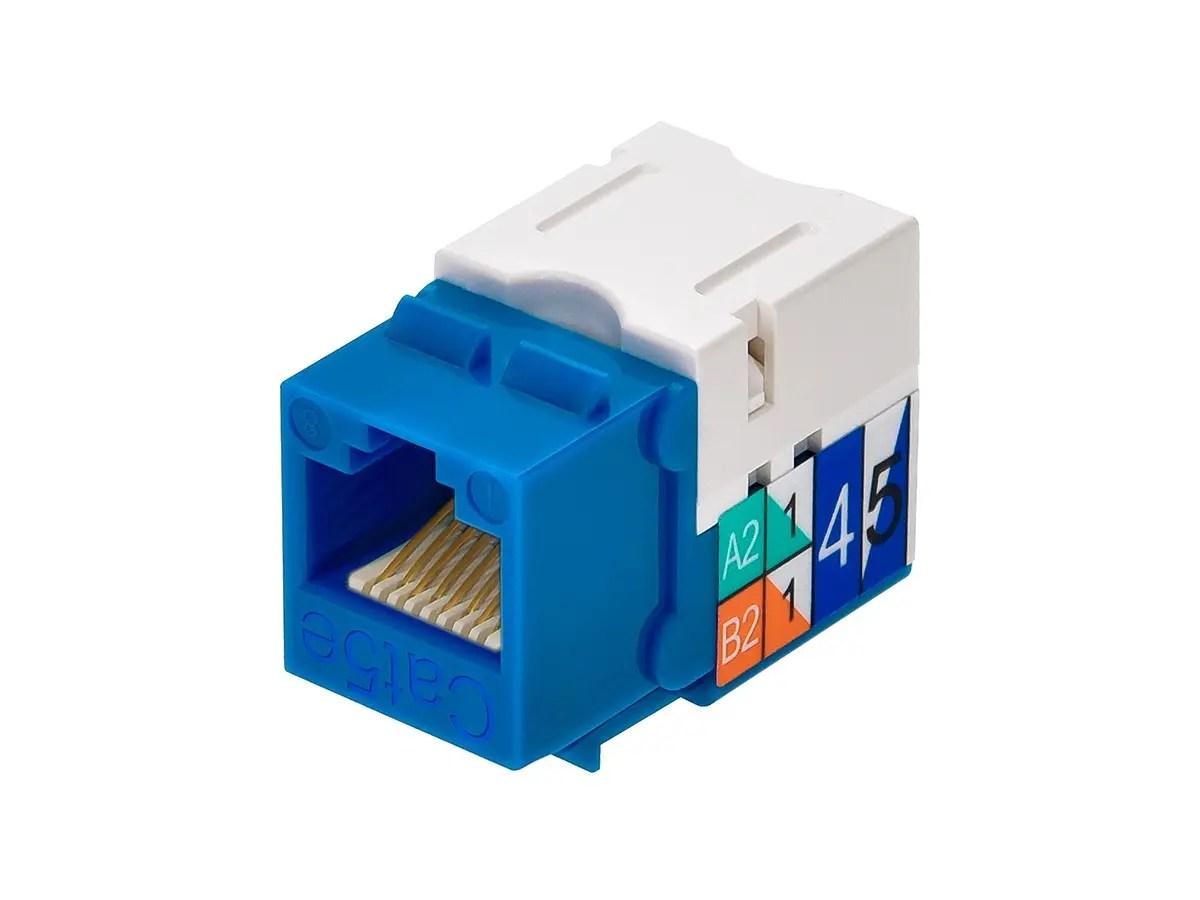rj45 punch down diagram 2002 f150 ignition wiring cat5e keystone jack blue monoprice