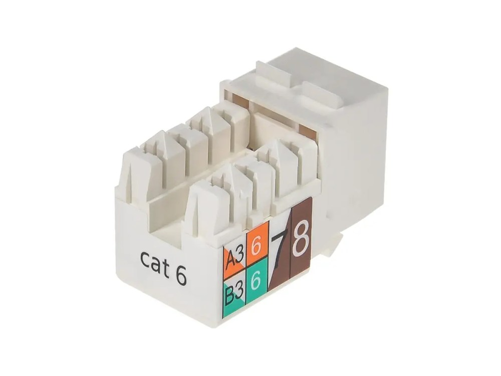 medium resolution of monoprice cat6 punch down keystone jack white small image 2