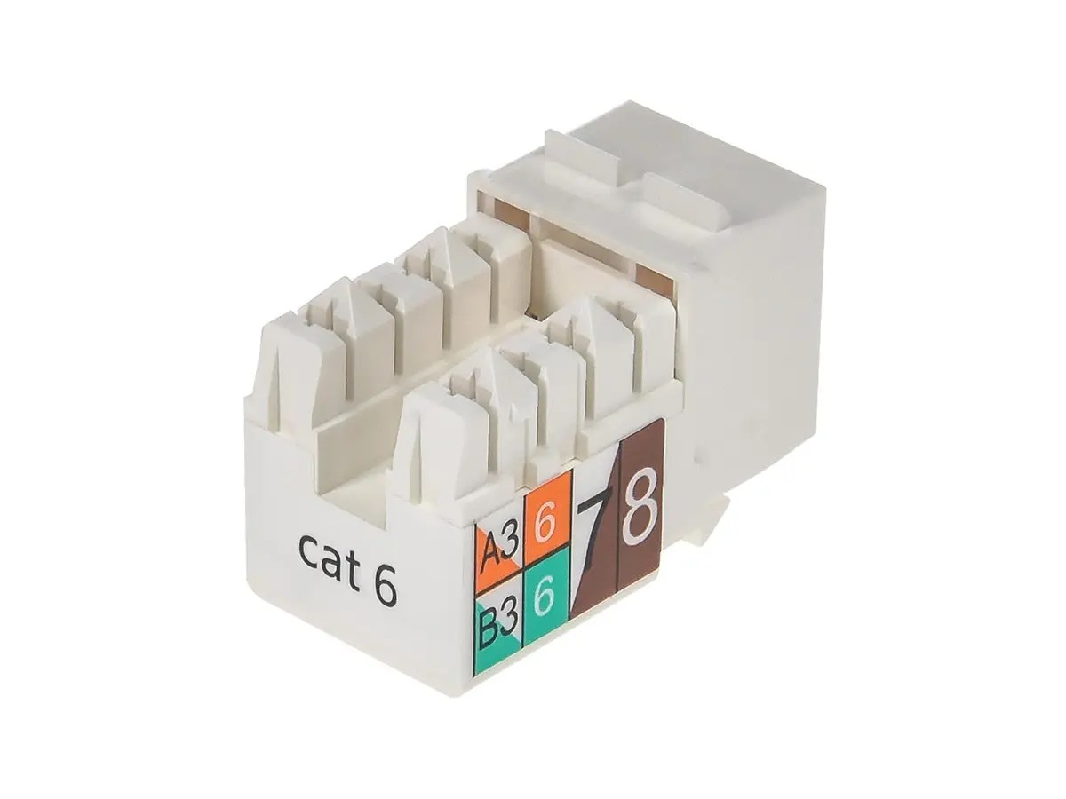 hight resolution of monoprice cat6 punch down keystone jack white small image 2