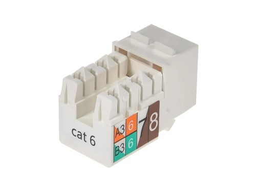 small resolution of monoprice cat6 punch down keystone jack white small image 2