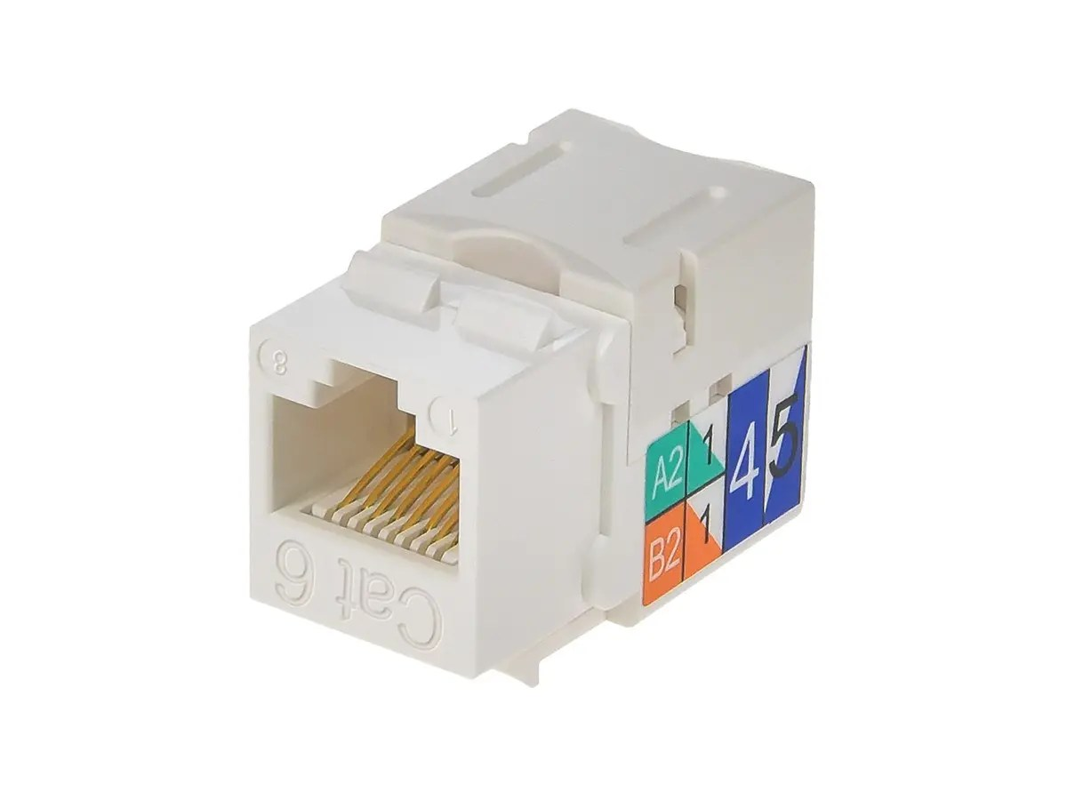 hight resolution of monoprice cat6 punch down keystone jack white small image 3