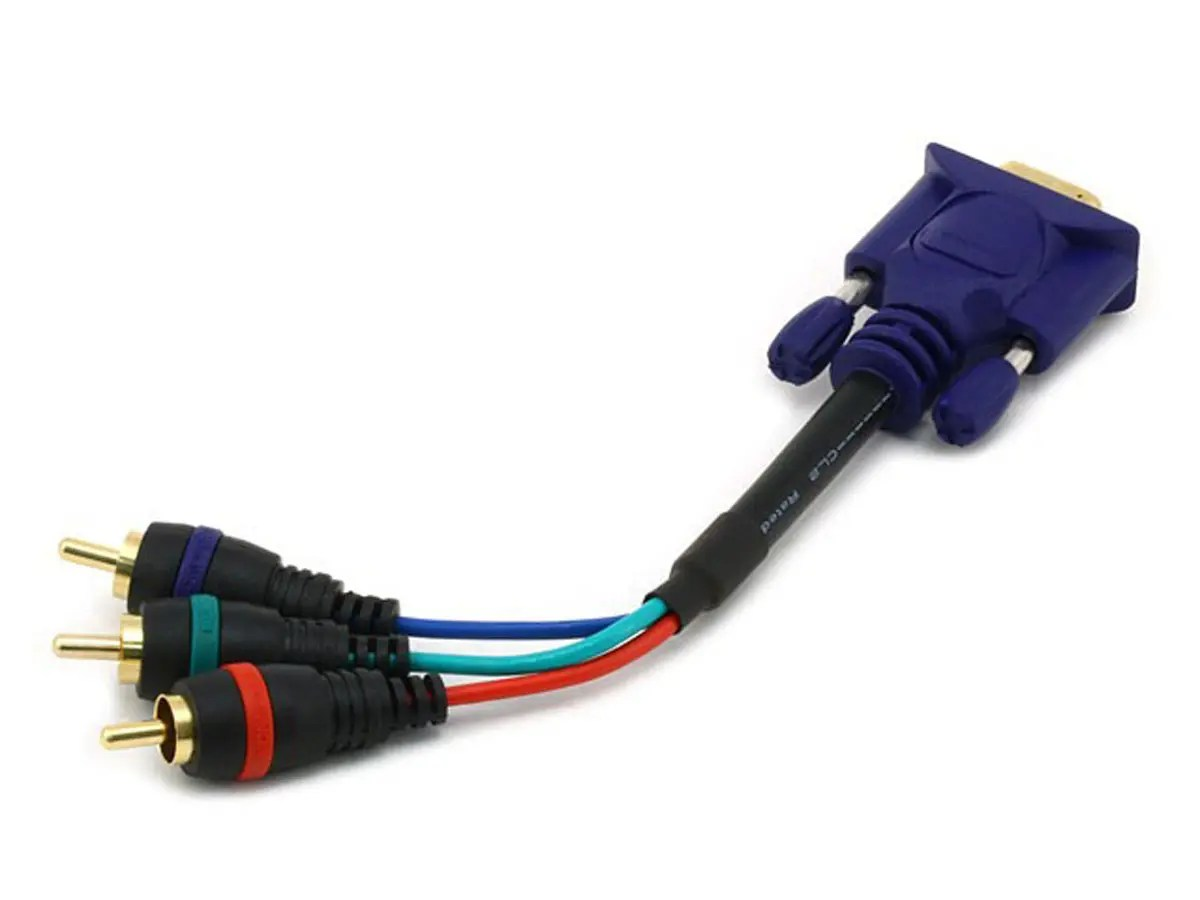 hight resolution of monoprice 6in vga to 3x rca component video cable hd15 to 3x rca