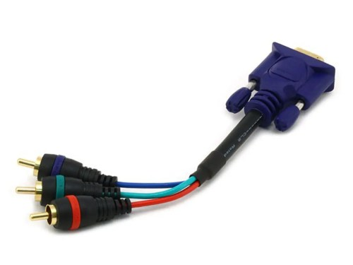 small resolution of monoprice 6in vga to 3x rca component video cable hd15 to 3x rca