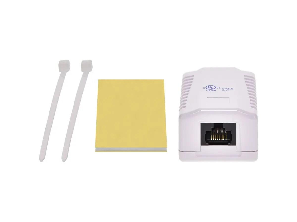 hight resolution of monoprice surface mount box cat6 single small image 3