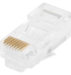 monoprice 8p8c rj45 modular plugs for stranded cat5 cat5e ethernet cable 100 pcs  [ 1200 x 900 Pixel ]