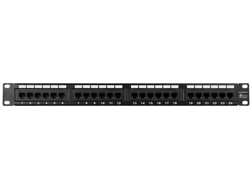 medium resolution of monoprice 24 port cat6 patch panel 110 type 568a b compatible