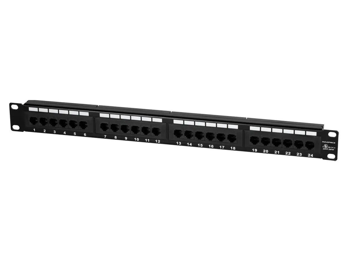 hight resolution of monoprice 24 port cat6 patch panel 110 type 568a b compatible