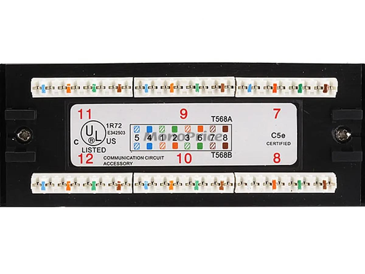 24 Port Cat5e Patch Panel 110 Type 568A B Compatible