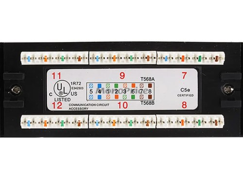 small resolution of  72553 24 port cat5e patch panel 110 type 568a b compatible t568b wiring diagram