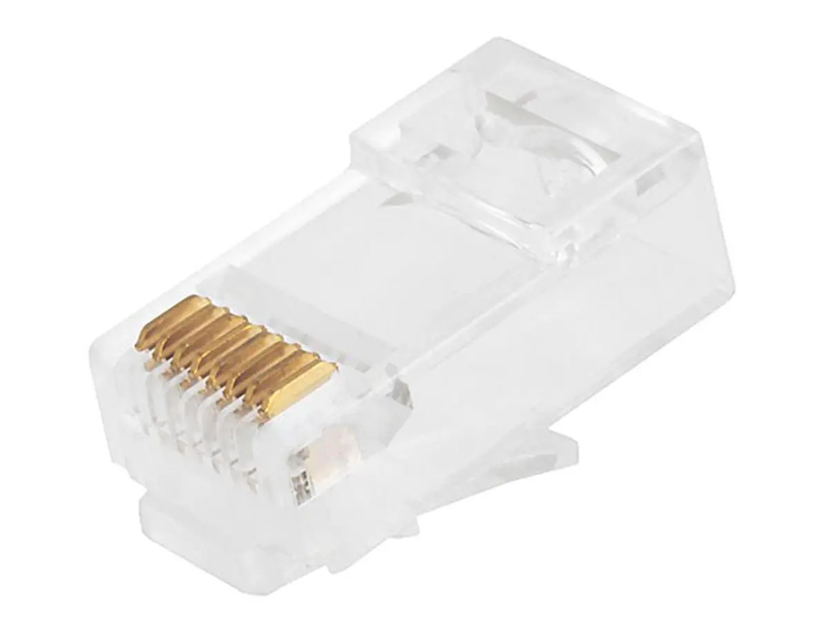 hight resolution of monoprice 8p8c rj45 plug with inserts for solid cat6 ethernet cable 8p8c wall jack wiring