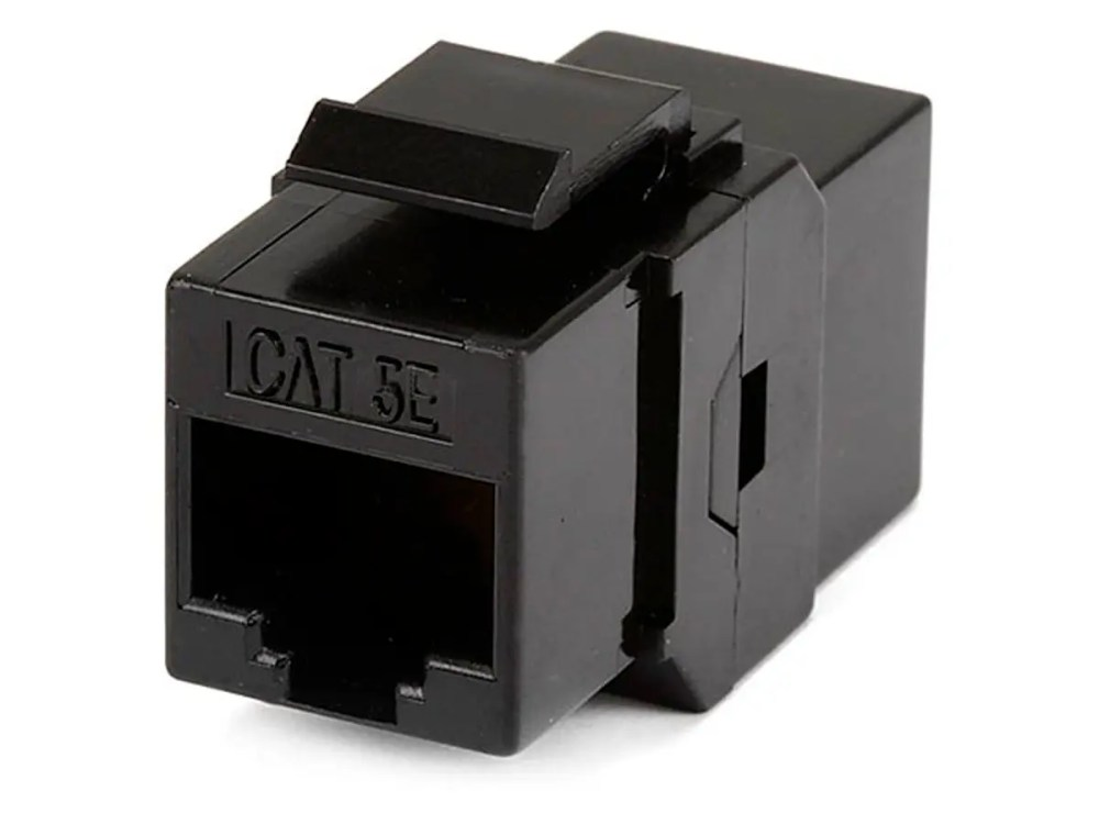 medium resolution of monoprice 8p8c rj45 cat5e inline coupler type keystone jack black large image
