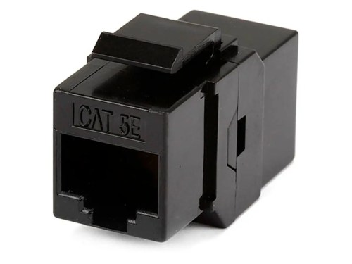 small resolution of monoprice 8p8c rj45 cat5e inline coupler type keystone jack black large image