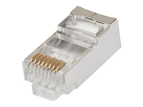 small resolution of monoprice 8p8c rj45 shielded plug for stranded cat6 ethernet cable rj types 8p8c wall jack wiring