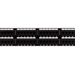 Cat6 Patch Panel Wiring Diagram 2003 Toyota Celica Stereo 110 Type 48 Port 568a B Compatible