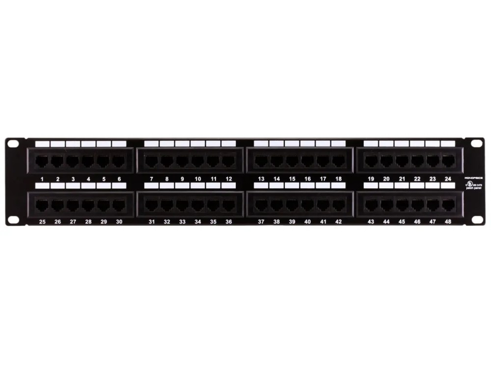 medium resolution of monoprice 48 port cat6 patch panel 110 type 568a b compatible