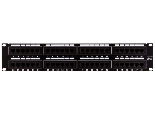 small resolution of monoprice 48 port cat6 patch panel 110 type 568a b compatible