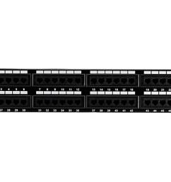 monoprice 48 port cat5e patch panel 110 type 568a b compatible  [ 1200 x 900 Pixel ]
