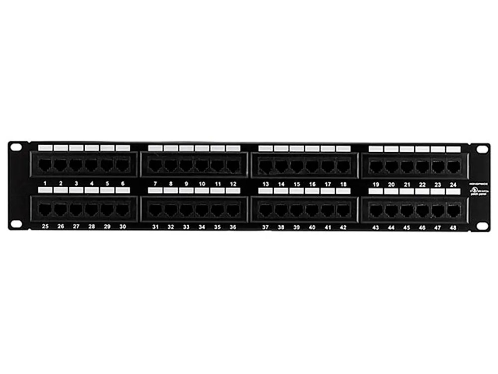 medium resolution of monoprice 48 port cat5e patch panel 110 type 568a b compatible