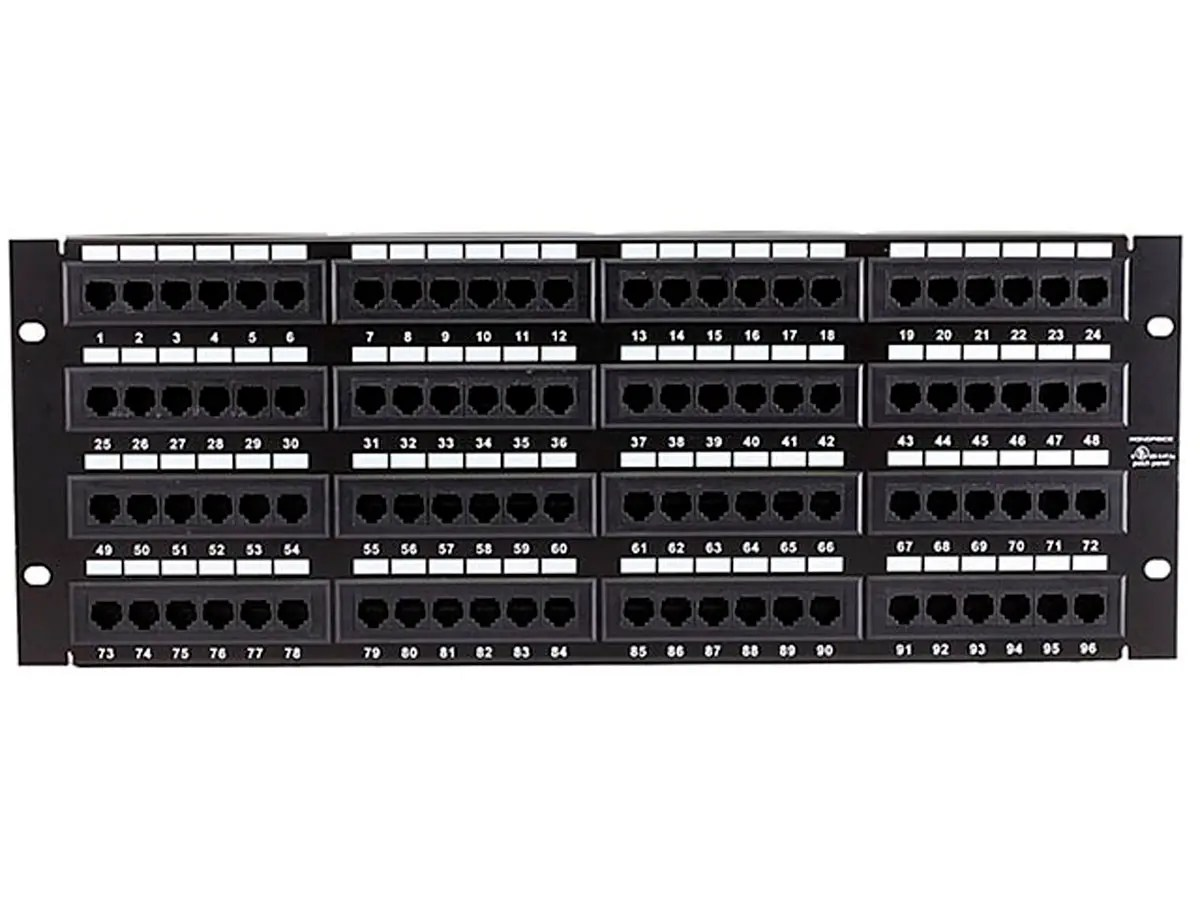 hight resolution of monoprice 96 port cat5e patch panel 110 type 568a b compatible