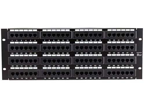 small resolution of monoprice 96 port cat5e patch panel 110 type 568a b compatible