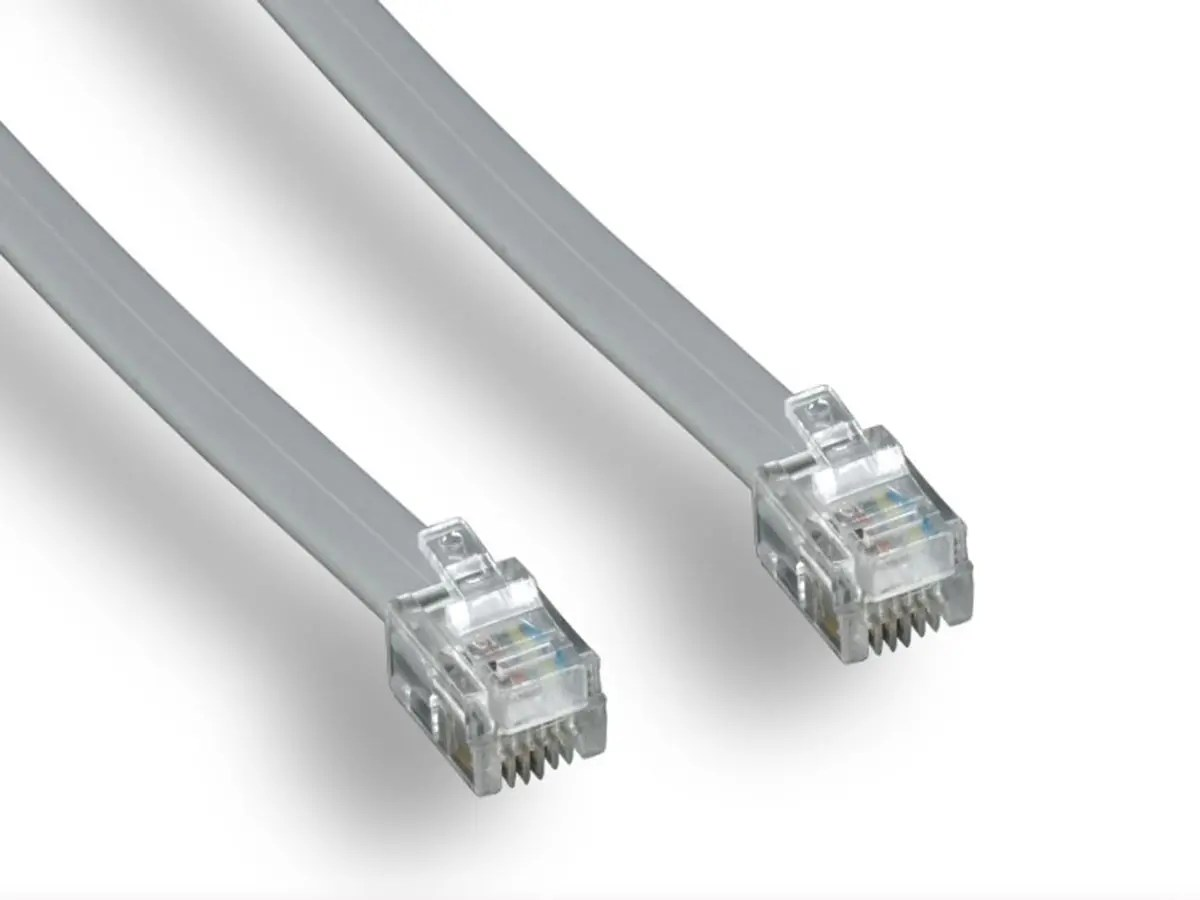 hight resolution of monoprice phone cable rj11 6p4c straight 50ft for data large