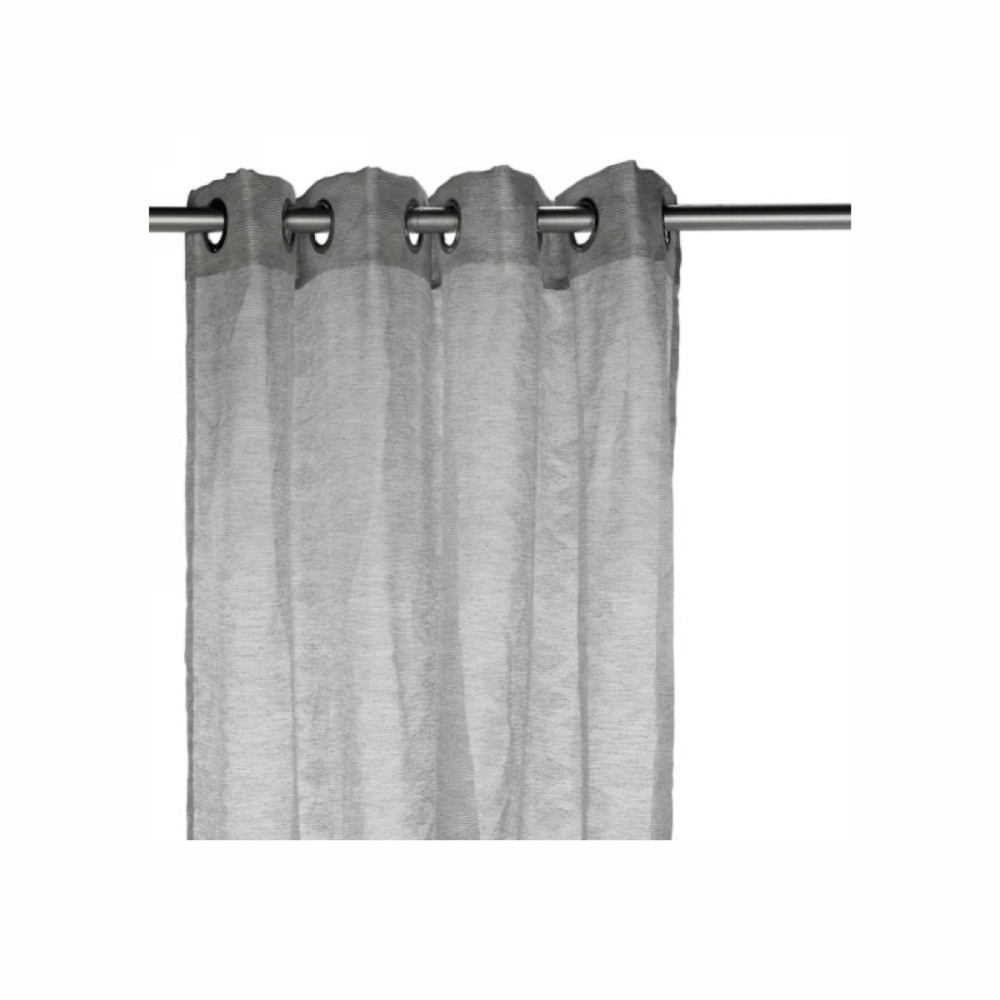rideau gris a motif losange blanc