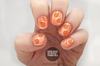 A Glittery Pumpkin-Inspired Nail Design for Halloween or ...