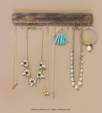 Make Your Own Wall-Mounted Jewelry Holder | more.com