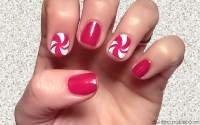 Holiday Nail Art: Swirly, Curly Candy Canes | more.com