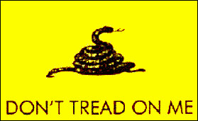meaning behind dont tread on me flag rattlesnake yellow background