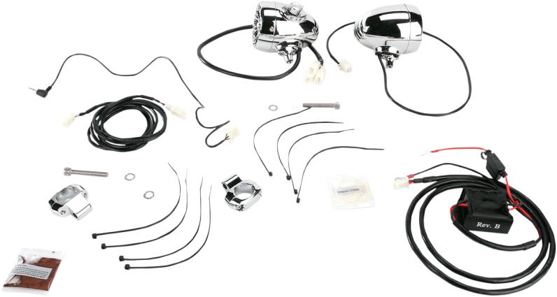 Kuryakyn Sound of Chrome Speaker Kit, 1in. Handlebars